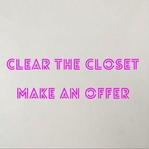 Jackets & Blazers - Clear the closet, shoes, coats, leggings, bikinis